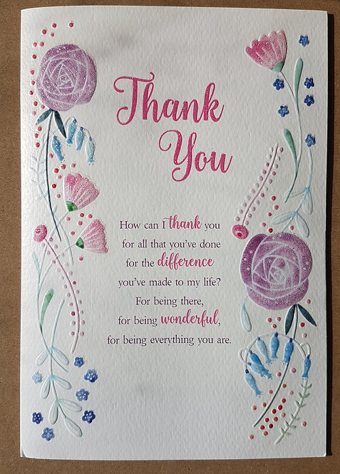 Thank You Greeting Card From The Eternal Range