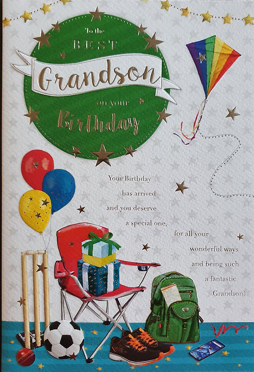 Grandson Birthday Greeting Card