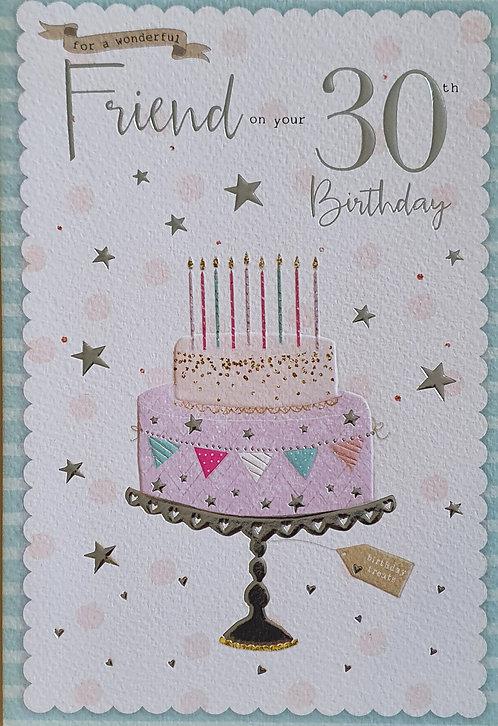 30th Female Friend Birthday Card