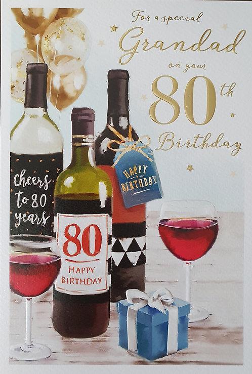 Grandad 80th Birthday Card