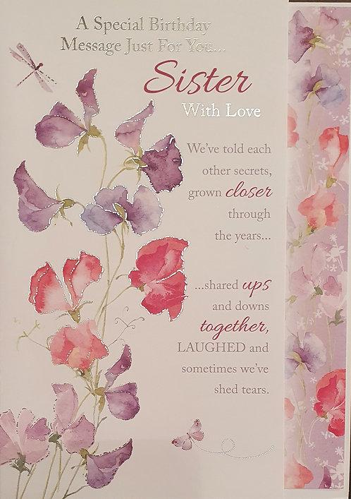 Sister Birthday Greeting Card