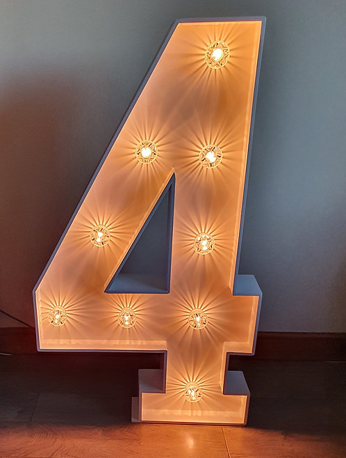 Light Up Number  4 - HIRE ONLY