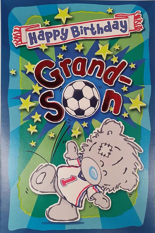 Grandson Birthday Card - My Dinky Bear, Me To you