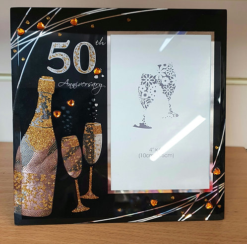 50th Golden Wedding Anniversary photo frame - 50 Years