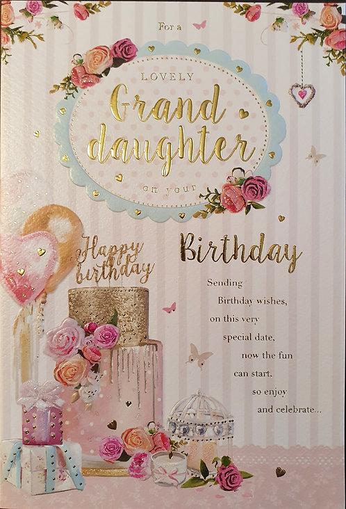 Granddaughter Birthday Card