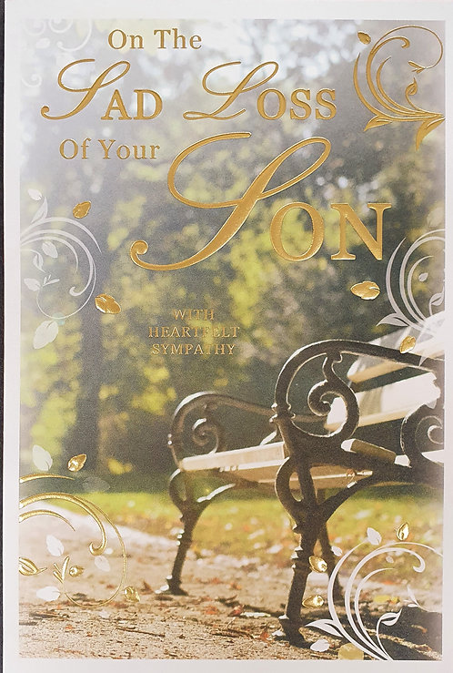 Loss Of Your Son Sympathy Greeting Card