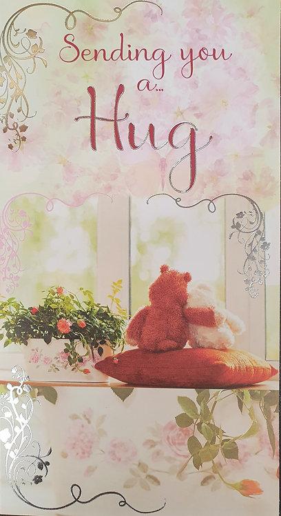 Sending You A Hug Blank Greeting Card