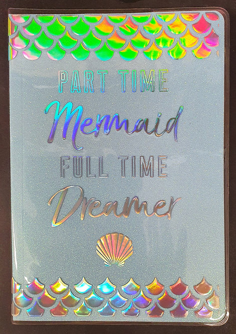 A5 Glitter Mermaid Notebook
