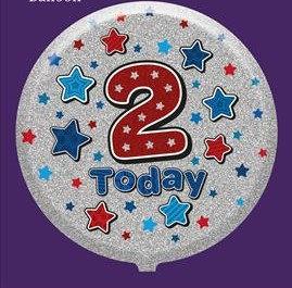 Male 2nd Birthday Balloon - Helium Filled