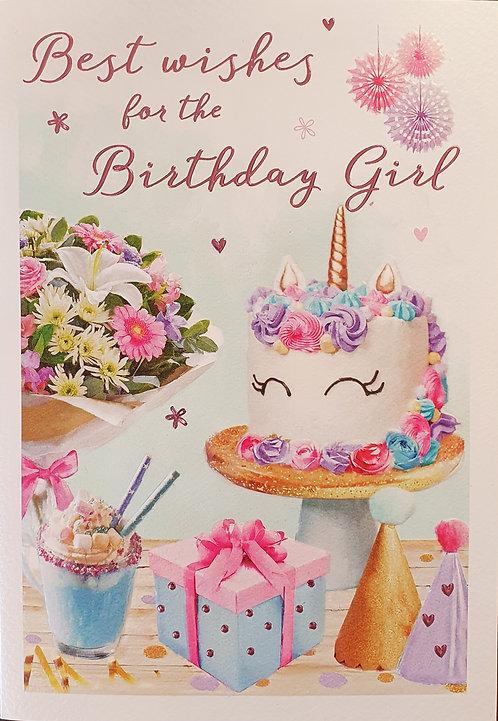 Female Birthday Greeting Card - Birthday Girl