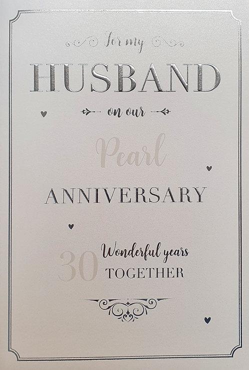 Husband, Pearl Anniversary Greeting Card