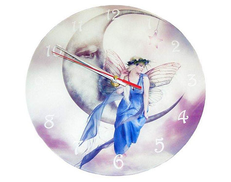 Glass Wall Clock - Watching Over Us