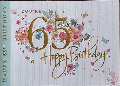 65th Female Birthday Card