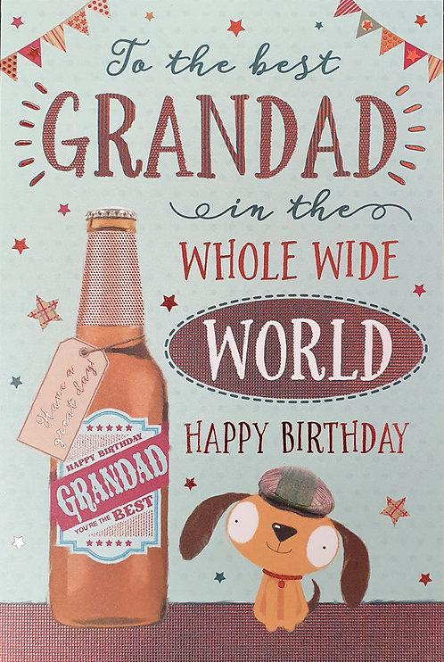 Grandad Birthday Greeting Card With Bottle