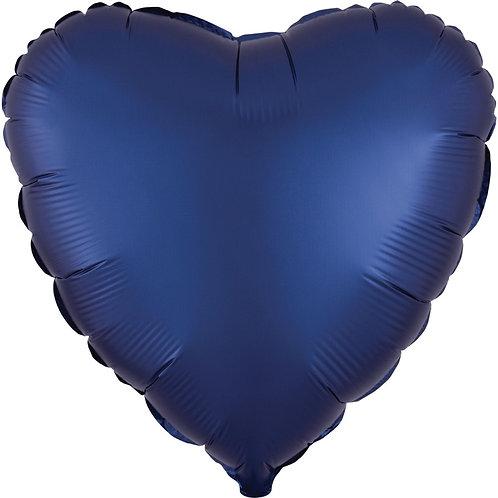 "18"" Navy Blue Heart -  Anagram Balloon - Helium Filled"