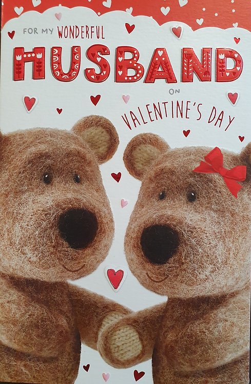 Valentine's Day Card Barley Bear - Husband