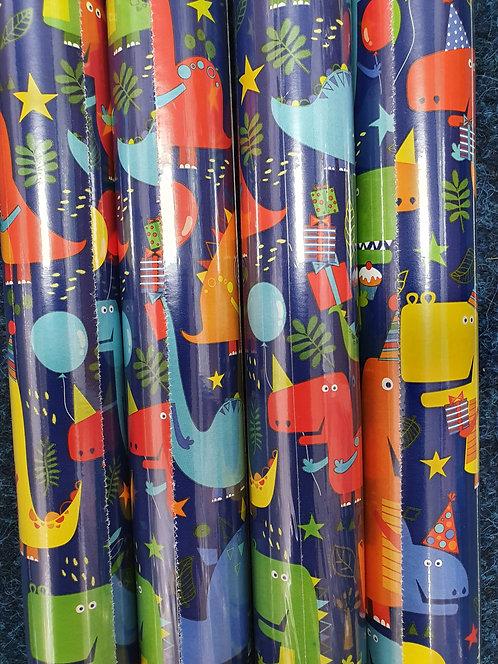 2m Giftwrap - Dinosaurs