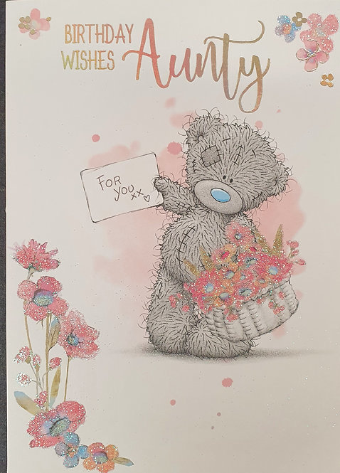 Aunty Birthday Card - Me To you
