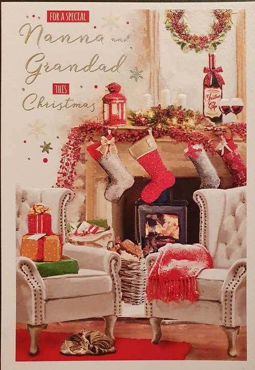Nanna and Grandad Christmas Greeting Card