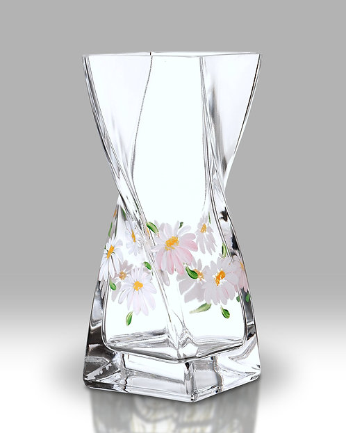 Daisy Twist Glass Vase by Nobile Glass and Giftware
