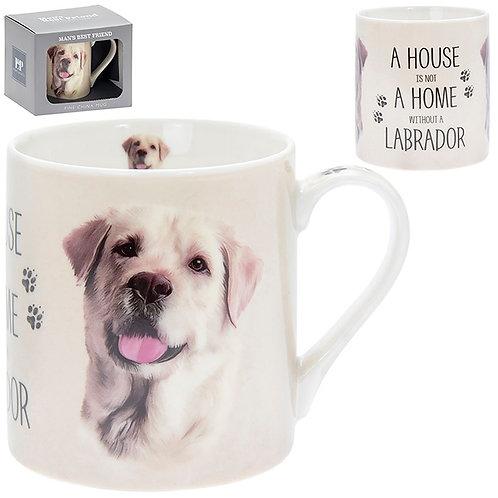 House and Home Fine China Mug - Golden Labrador