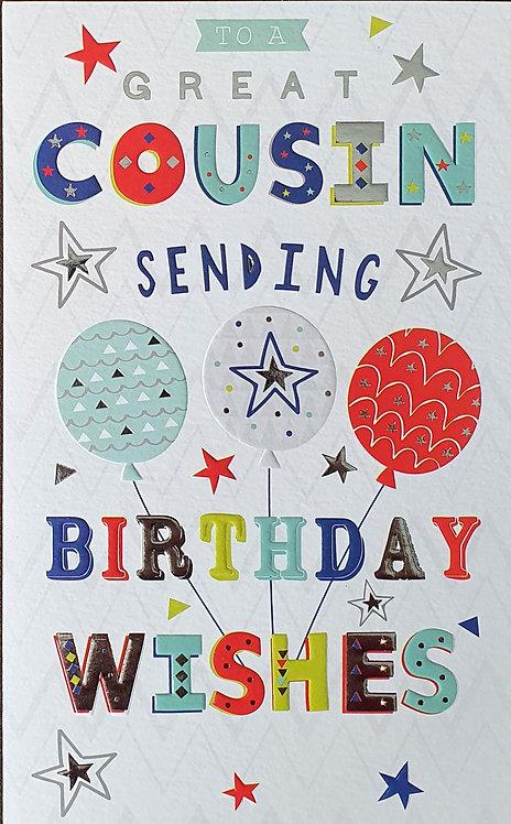 Cousin Birthday Greeting Card