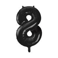 """34 """" Large Number 8 Foil Balloon - Black"""
