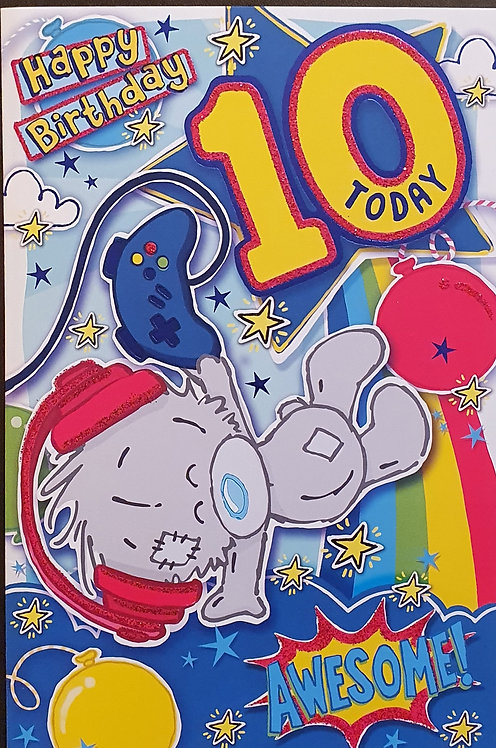10th Male Birthday Card - Me to You Dinky Bear
