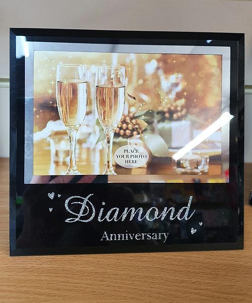 60th Diamond Wedding Anniversary photo frame - 60 Years