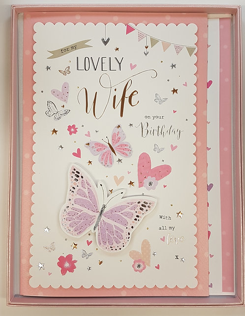 Wife Birthday Boxed Card