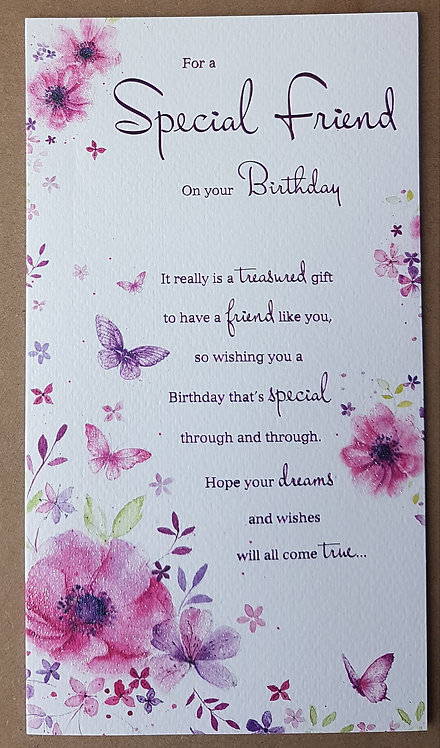Female Birthday Greeting Card - Special Friend