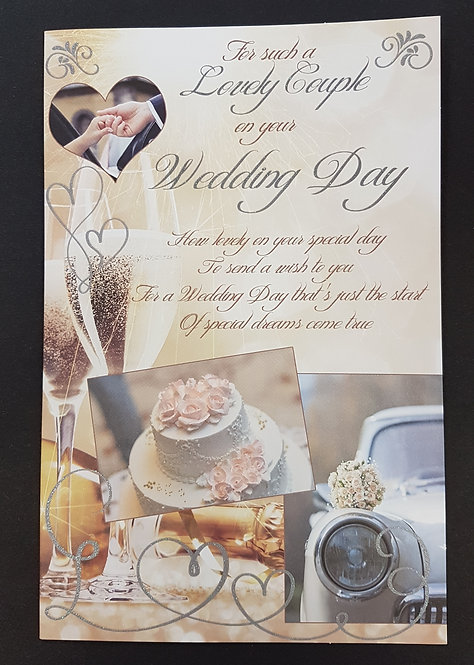 Wedding Day - A Lovely Couple Greeting Card