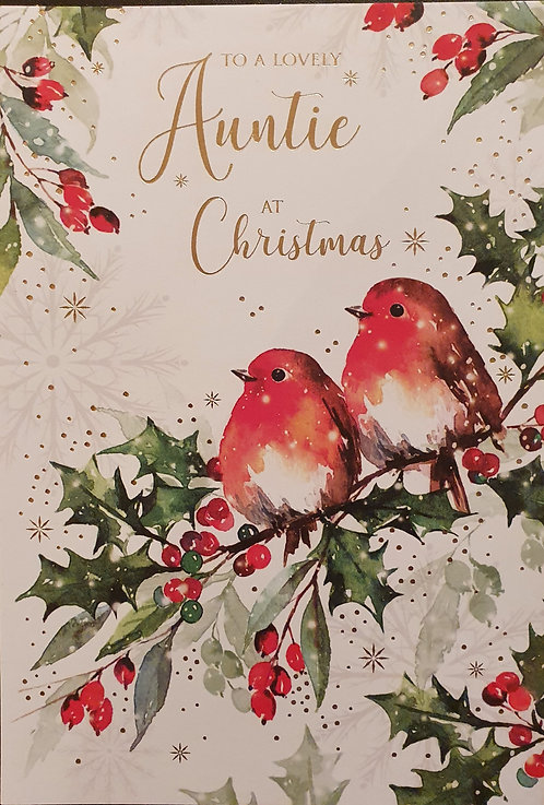 Auntie Christmas Greeting Card
