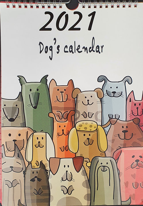2021 Calendar with Dogs Artwork