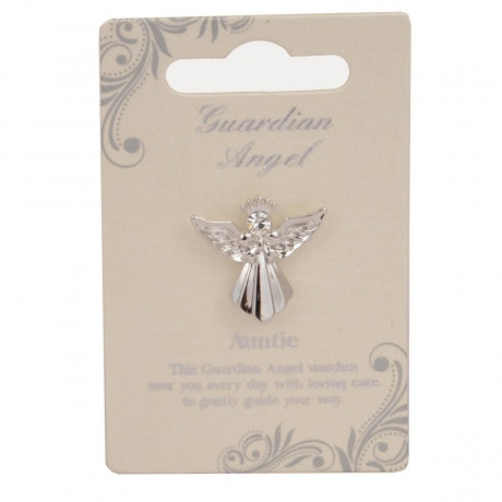 Guardian Angel Pin - Auntie