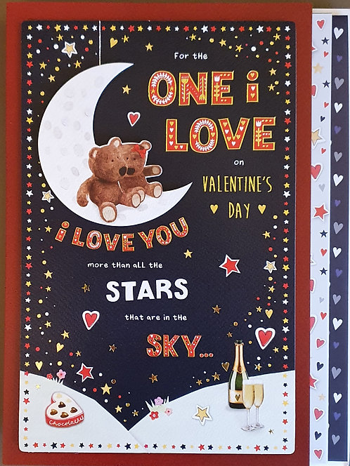 Valentine's Day Card - For The One I Love, Boxed Card