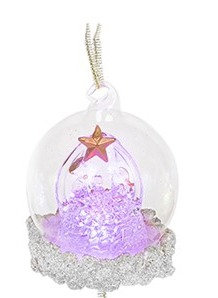 Glass Art LED Bauble - Nativity (Small)