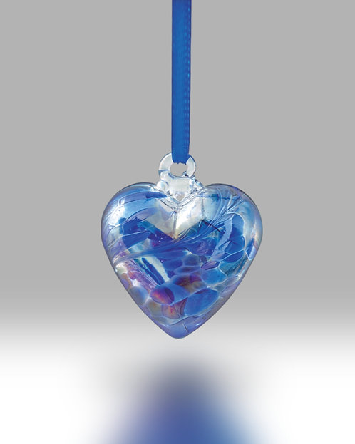 September Birth Gem Heart Nobile Glassware Friendship Ball