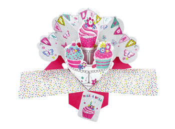 Cupcakes Pop Up Greeting Card