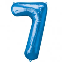 "34"" Large Number Foil Balloon 7 - Helium Filled"