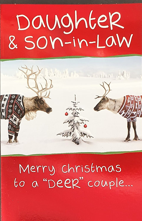 Daughter and Son-in-Law Christmas Greeting Card