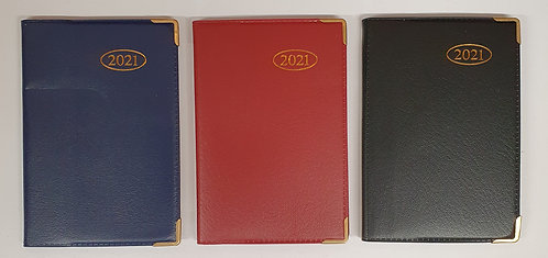 2021 Leather Effect Pocket Diaries