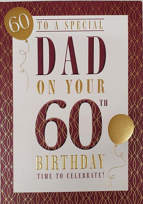 Dad 60th Birthday Card