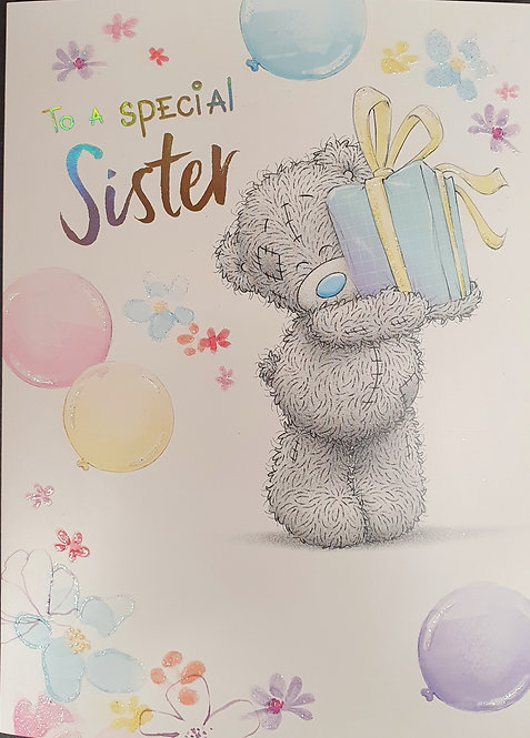 Sister Birthday Greeting Card By Me To You Tatty Teddy