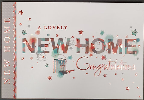 New Home Greeting Card With Paint Can