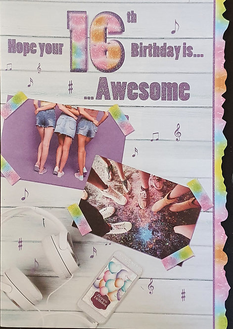 16th Female Birthday Card