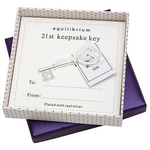 21st birthday Keepsake Key by Equilibrium in a presentation box