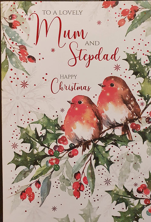Mum & Stepdad Christmas Greeting Card