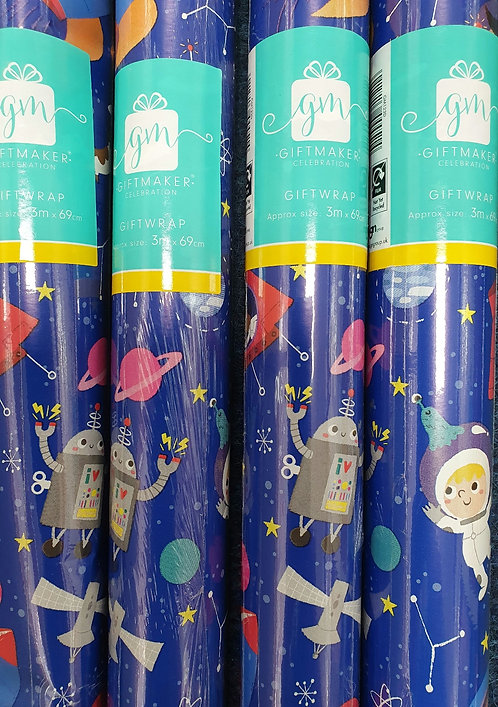 2m Giftwrap - Space