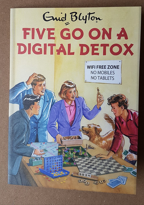 Enid Blyton, Five Go On A Digital Detox - Greeting Card